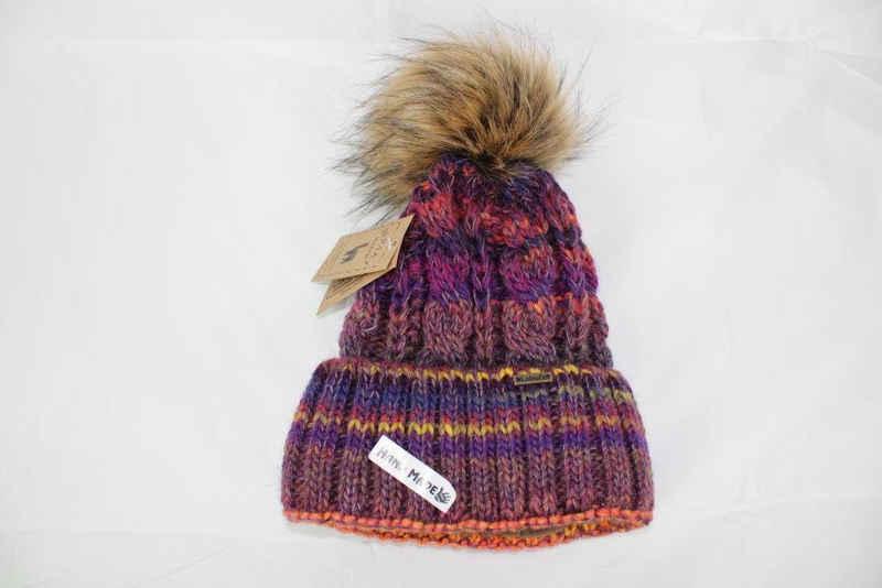 Mein Style Bommelmütze »Alpaka Strick Bommelmütze viele Farben« (Einzelstück, 1-St., 1 Stück) mit Umschlag, Innen gefüttert