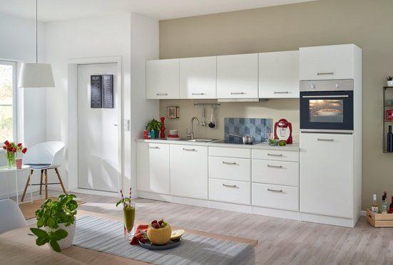 HELD MÖBEL Küchenzeile mit E-Geräten »Xanten«, Breite 300 cm, mit höhenverstellbaren Füßen und Softclose