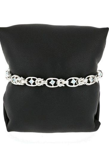 Firetti Silberarmband »Königskettengliederung  7 6 mm breit  ovale Elemente  hochglanzpoliert  halbmassiv«  mit Zirkonia