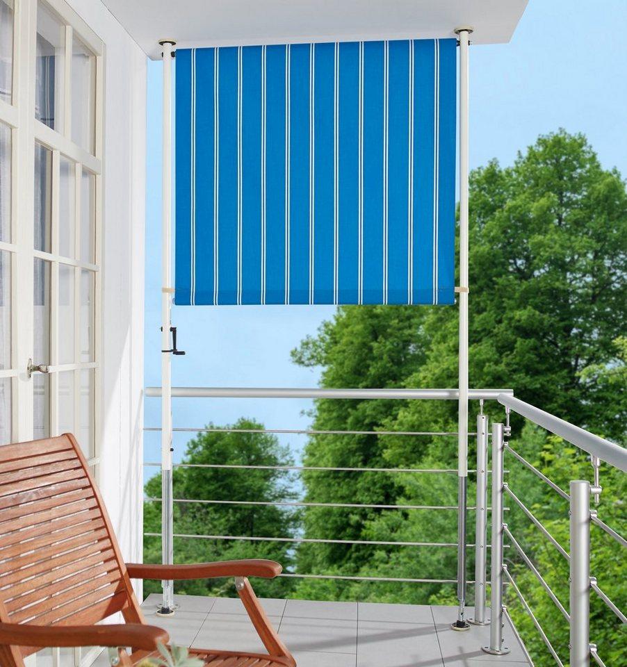 Angerer Freizeitmobel Balkonsichtschutz Blau Weiss Bxh 150x225 Cm