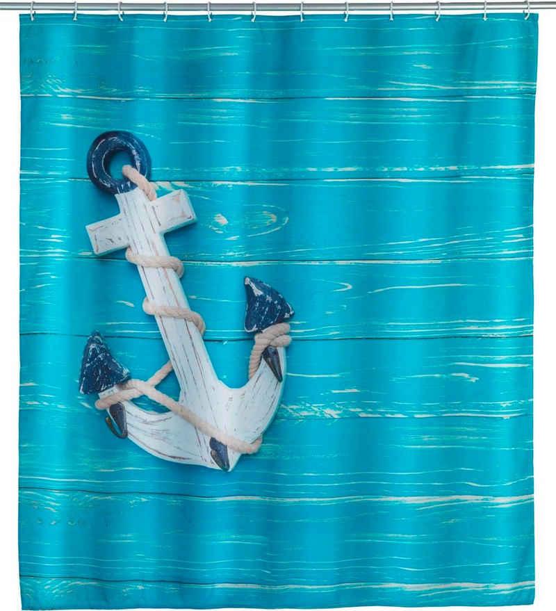 WENKO Duschvorhang »Aboard« Breite 180 cm, Höhe 200 cm, Polyester, waschbar