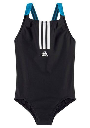 adidas Performance Badeanzug, mit kontrastfarbenen Streifen vorne