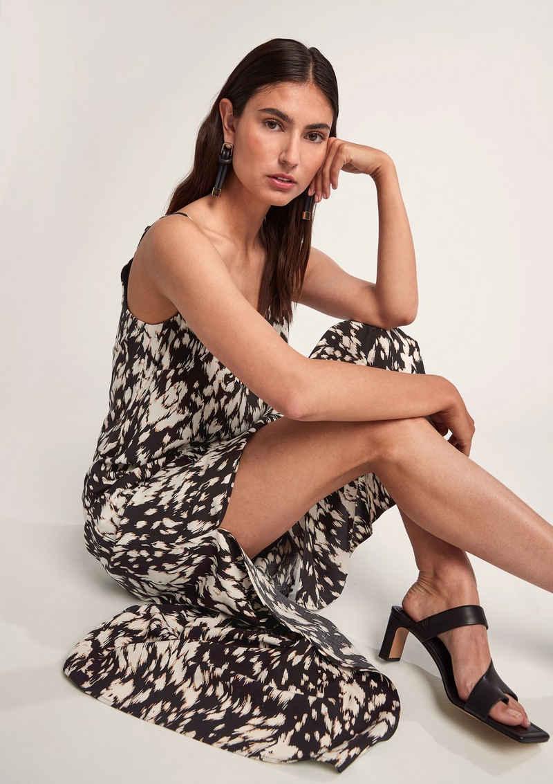 Comma Maxikleid »Leichtes Viskosekleid mit Muster«
