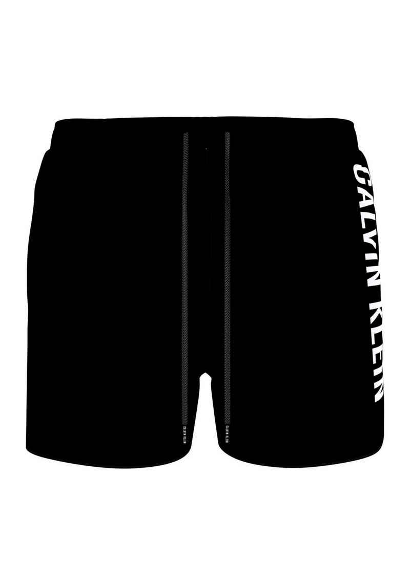 Calvin Klein Badeshorts, mit Calvin Klein Schriftzug am Bein