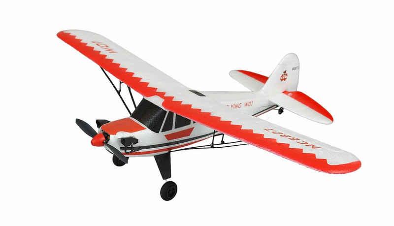 Amewi RC-Flugzeug »Piper J-3 Cup rot/weiß, 3-Kanal RTF, Gyro, Mode 2«