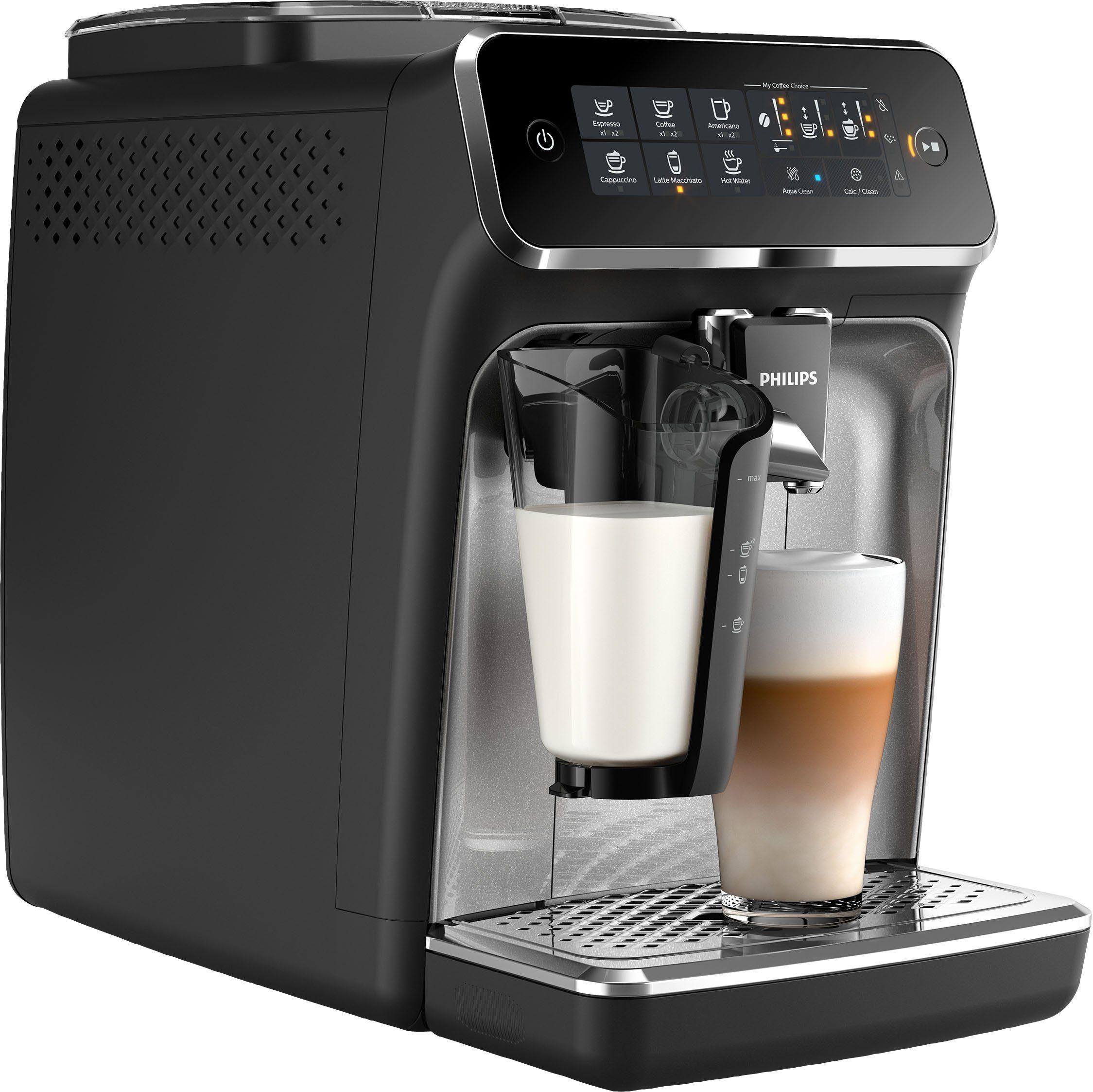 Philips Kaffeevollautomat 3200 Serie EP324670 LatteGo, silber, schwarz online kaufen | OTTO