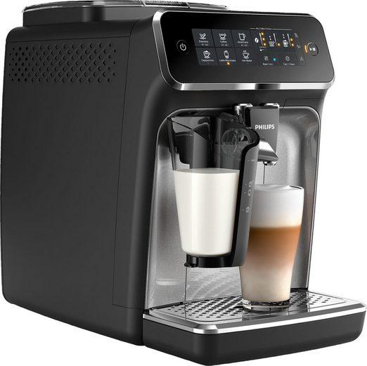 Philips Kaffeevollautomat 3200 Serie EP3246/70 LatteGo, silber, schwarz