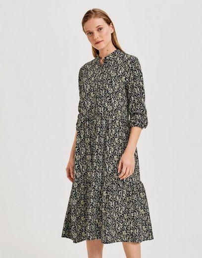 OPUS Blusenkleid »Werani« mit verdeckter Knopfleiste und filigranem Druck