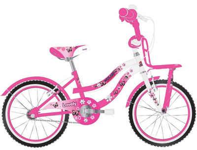 Volare Kinderfahrrad »20 ZOLL Kinder Mädchen Fahrrad Kinderfahrrad Mädchenfahrrad Kinderrad Mädchenrad Bike Rad LOVELY Rosa Weiß 2091«, Frontträger