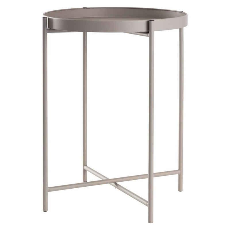 DAY - USEFUL EVERYDAY Tabletttisch »Beistelltisch rund Ø38xH50cm Metall grau«