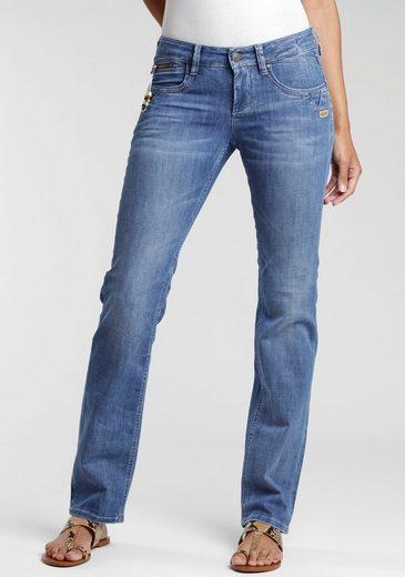GANG Straight-Jeans  Nikita  Coinpocket mit Zipper