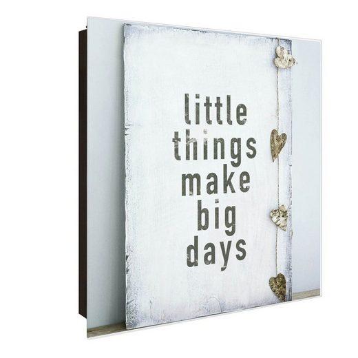banjado Schlüsselkasten »Motiv Little Things«, 30 cm x 30 cm