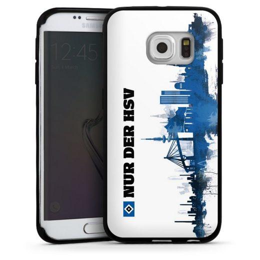 DeinDesign Handyhülle »Silhouette - Nur der HSV« Samsung Galaxy S6 Edge, Hülle Offizielles Lizenzprodukt HSV Hamburger SV