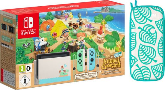 Nintendo Switch (Limited Edition), inkl. Animal Crossing Tasche