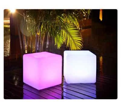 PRECORN LED Würfel »LED Würfel inkl. USB Lichtobjekt Leuchtwürfel Licht Garten Dekoration Cube Beleuchtung«