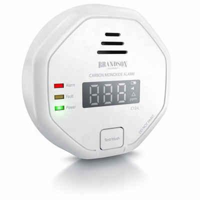 Brandson CO-Melder (Kohlenmonoxid Melder mit LCD Display CO Alarm mit 85 dB - Batteriebetrieben)
