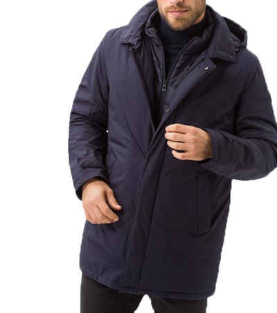 Brax Outdoorjacke »BRAX Outdoor-Jacke wärmende Herren Herbst-Jacke mit Kapuze Winter-Jacke Dunkelblau«