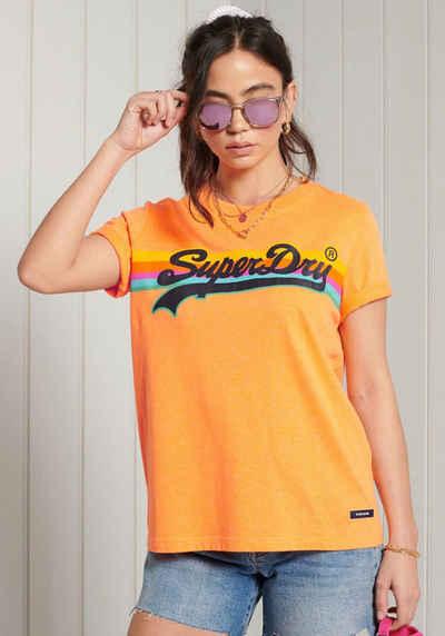 Superdry T-Shirt »VL CALI TEE« mit buntem Printaufdruck