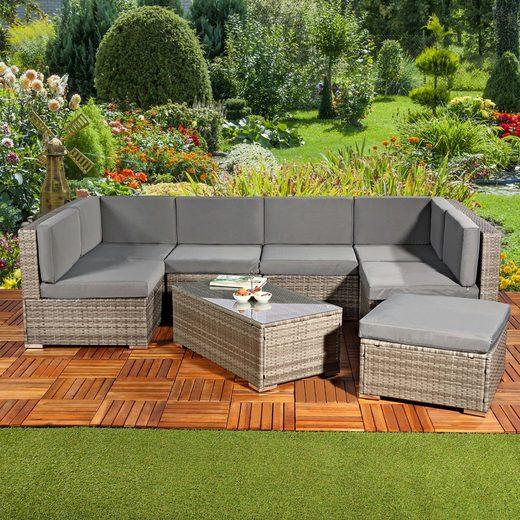 Mucola Gartenmöbelset »XXL Lounge Gartenmöbel Set Sitzgruppe Gartenlounge Sitzgarnitur Polyrattan Gartenmöbel«, (8-tlg)