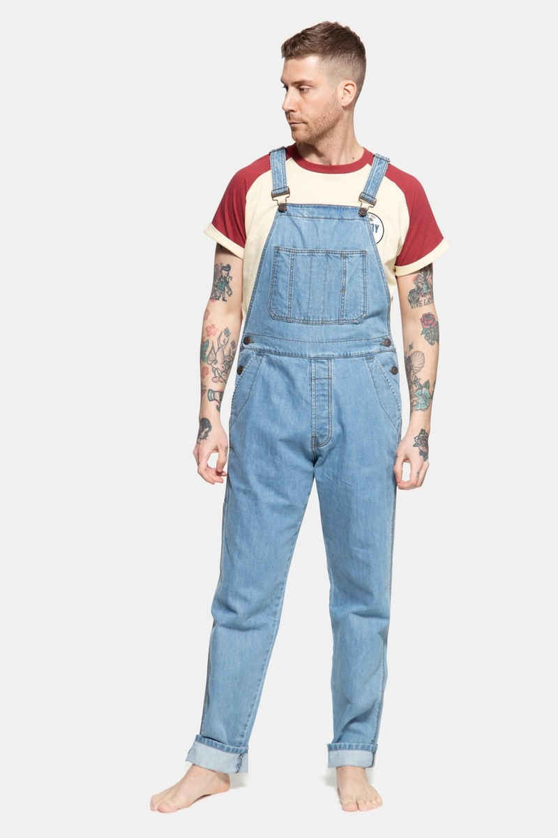 KingKerosin Jeanslatzhose im Workwear-Style