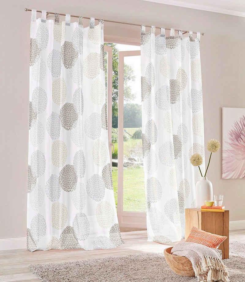 Gardine »Belem«, my home, Schlaufen (1 Stück), Vorhang, Fertiggardine, transparent