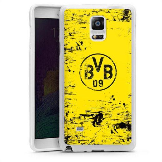 DeinDesign Handyhülle »BVB Destroyed Look« Samsung Galaxy Note 4, Hülle Borussia Dortmund Offizielles Lizenzprodukt BVB