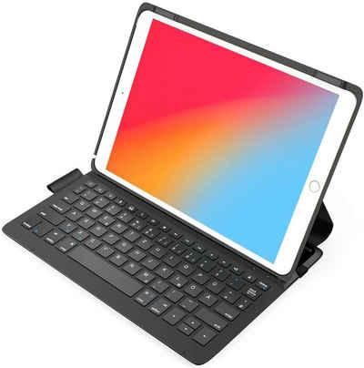 Inateck »Ultraleichte Tastatur Hülle für iPad 2021 9th Gen/iPad 2020(8th Gen)/iPad 2019(7th Gen) 10.2 Zoll, iPad Air 3 und iPad Pro 10.5, mit Smart Power Knopf, QWERTZ« iPad-Tastatur