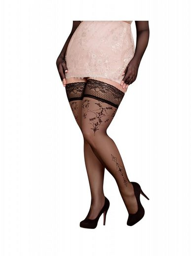 Ballerina Halterlose Strümpfe »schwarz 20 DEN FaS371 Size Plus Große Größe«