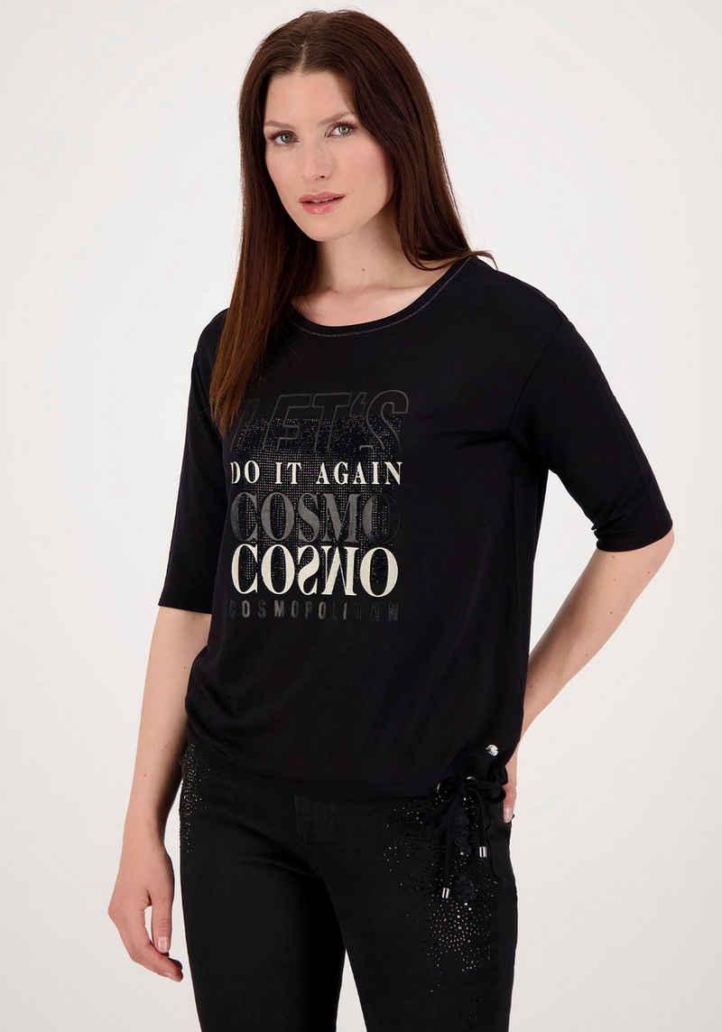 Monari 3/4-Arm-Shirt mit Glitter - Schrift