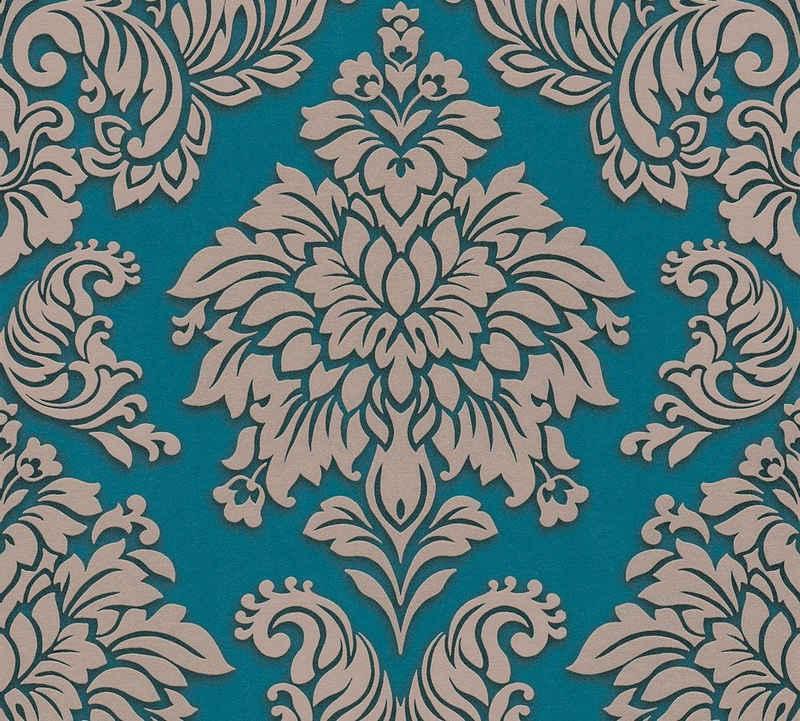 living walls Vliestapete »Metropolitan Stories Lizzy London«, Barock, mit Ornamenten, Glitzereffekt