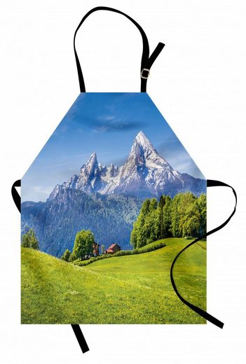 Abakuhaus Kochschürze »Höhenverstellbar Klare Farben ohne verblassen«, Landschaft Blühende Blumen Laub