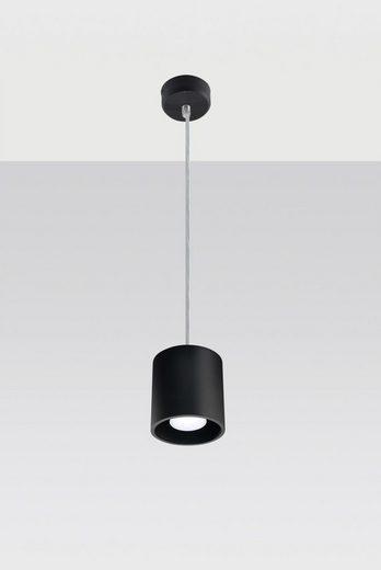 Licht-Erlebnisse Pendelleuchte »RODA Hängelampe Schwarz Zylinder Aluminium zeitlos Esszimmer Flur Küche«