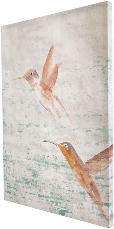 Leinwandbild Kunst-Druck 120x60 Bilder Tiere Vögel Schmetterlinge