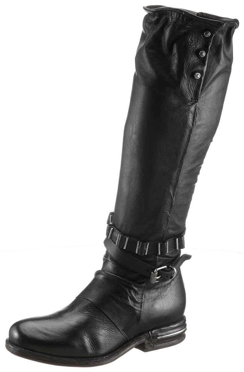 A.S.98 »TEAL« Stiefel mit Schmuckelementen im Metalliclook
