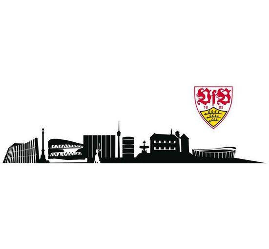 Wall-Art Wandtattoo »VfB Stuttgart Skyline mit Logo« (1 Stück)