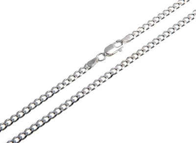 Silberkettenstore Silberkette »Panzerkette 3mm breit«, von 38-120cm wählbar