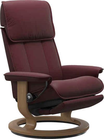 Stressless® Relaxsessel »Admiral«, mit Classic Base und Power™, elektrisch verstellbar, optional 2-motorisch, Größe M & L, Gestell Eiche