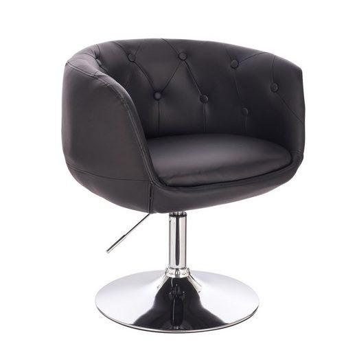 SVITA Chesterfield-Sessel »PANAMA« (1-St., Drehsessel), 360° drehbar, stufenlos höhenverstellbar, angenehm gepolstert, hochwertig verarbeitet