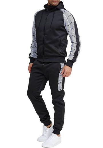 Egomaxx Trainingsanzug »3584«, Herren Slim Fit Trainingsanzug Casual Basic Streetwear Sportanzug