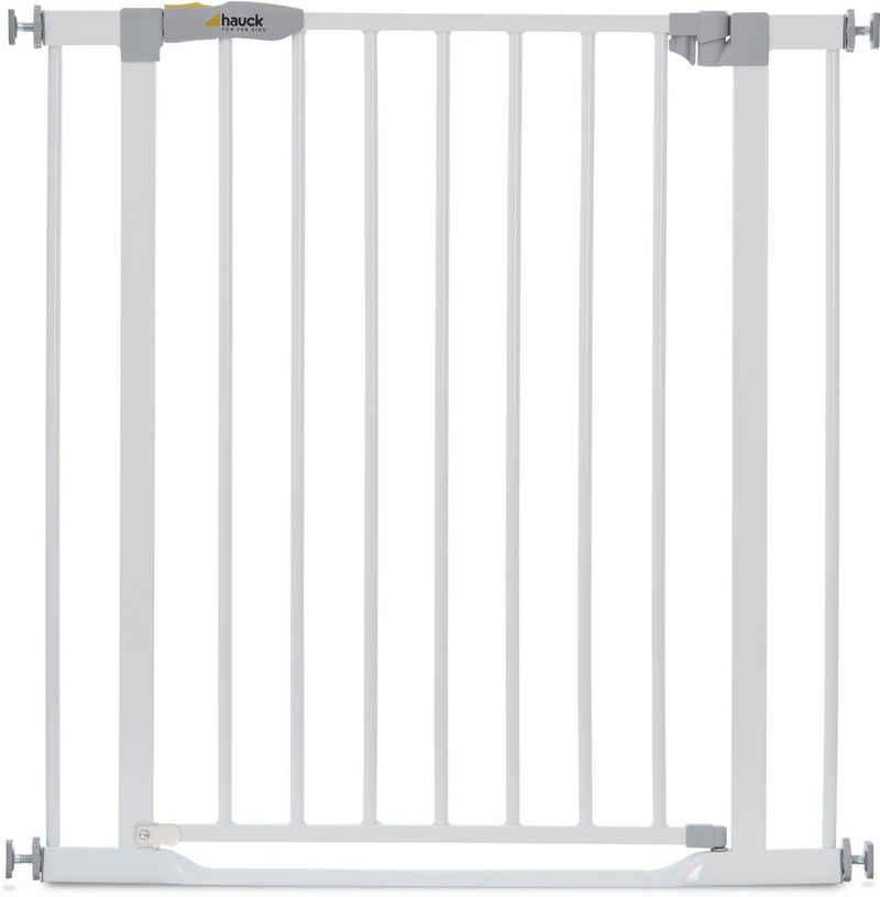 Hauck Türschutzgitter »Clear Step Gate, weiß«, auch als Treppenschutzgitter verwendbar