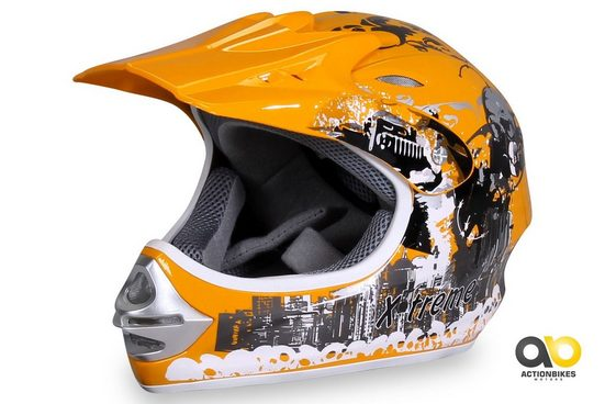 Actionbikes Motors Motocrosshelm »X-treme Gelb«