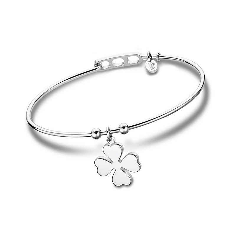 Lotus Style Armreif »JLS2015-2-1 LOTUS Style Armreif silber Charms« (Armreifen), für Damen aus Edelstahl (Stainless Steel)