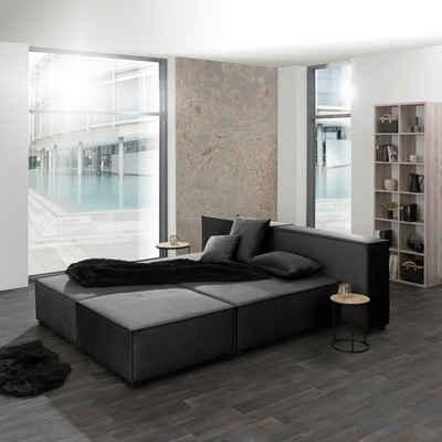 Max Winzer® Wohnlandschaft »MOVE«, Set, Sofa-Set 09 aus 6 Sitz-Elementen, inklusive 3 Zierkissen, auch als Bett stellbar