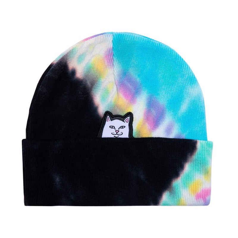 RIPNDIP Beanie »Lord Nermal Tie Dye - black/rainbow«