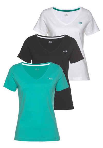 H.I.S T-Shirt »Essential-Basics« (Spar-Set, 3er-Pack)