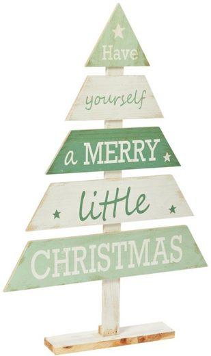Dekobaum »Merry Little Christmas«, aus Holz, Höhe 76 cm