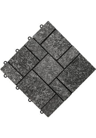 florco ® Terrassenplatten »stone« 30x30 cm 4-...