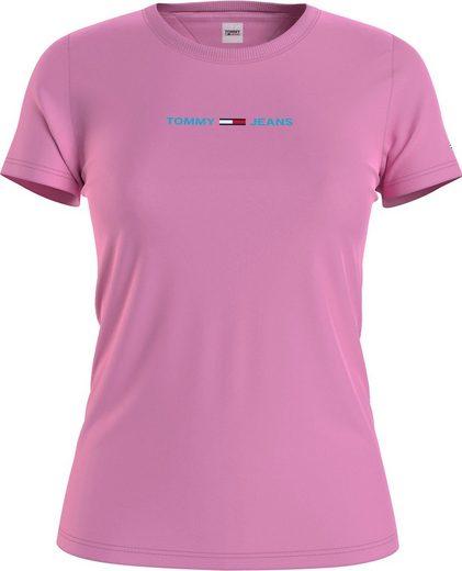 Tommy Jeans Rundhalsshirt »TJW SLIM MULTI LINEAR LOGO« mit farbrigem Tommy Jeans Linear Logo-Schriftzug