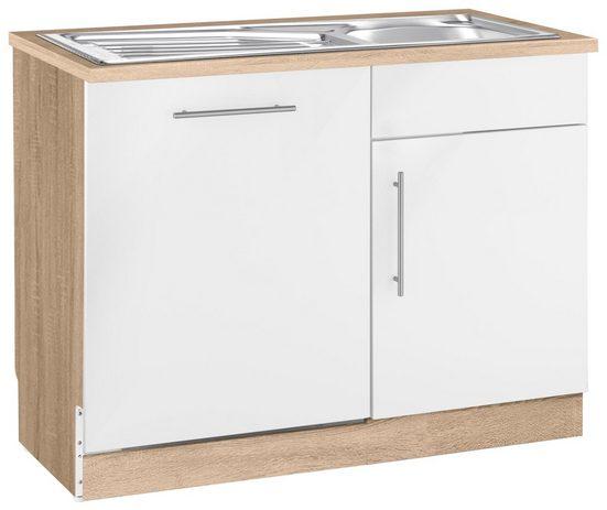 wiho Küchen Spülenschrank »Cali« 110 cm breit, inkl. Tür/Sockel für Geschirrspüler