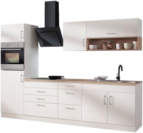 HELD MÖBEL Küchenzeile »Palermo«, mit E-Geräten, Breite 290 cm